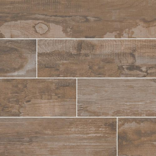 Salvage Brown 6x40 wood tile