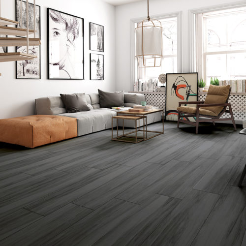 Zante Gray 9x47  porcelain wood look tile